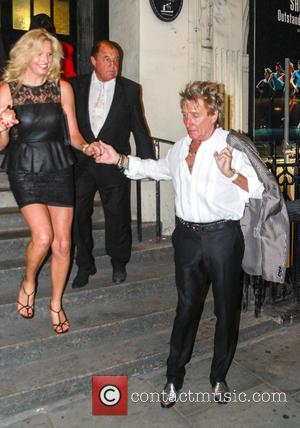 Rod Stewart and Penny Lancaster