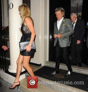 Rod Stewart, Penny Lancaster and Guest