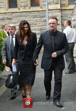 Ali Hewson and Bono - The funeral of poet Seamus Heaney at the Sacred Heart Church, Donnybrook - Dublin, Ireland...