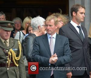Enda Kenny - The funeral of poet Seamus Heaney at the Sacred Heart Church, Donnybrook - Dublin, Ireland - Monday...