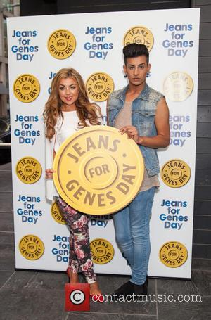 Abigail Clarke and Junaid Ahmed - Jeans for Genes 2013 party at the Jewel Bar - London, United Kingdom -...