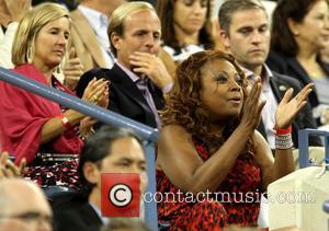 Star Jones - Celebrities at the Serena Williams v Carla Suarez Navarro match on Day 9 of the US Open...