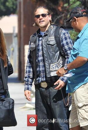Charlie Hunnam - Charlie Hunnam on the set of 'Sons Of Anarchy' filming in Los Angeles. The 33 year old...
