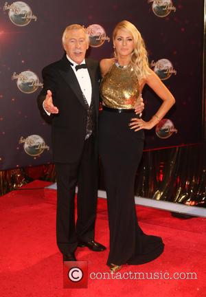 Tess Daly and Sir Bruce Forsyth - Bruce Forsyth steps down from Strictly Come Dancing.  Seen at the 'Strictly...