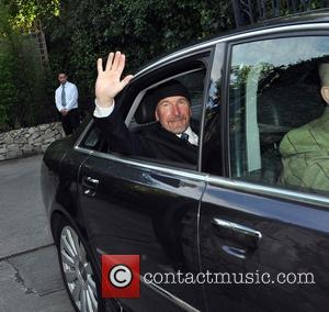The Edge - Guests including U2 manager Paul McGuinness, Drummer Larry Mullen and The Edge seen leaving the home of...