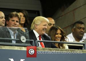Donald Trump and Melania Trump - Celebrities attend day 10 of the 2013 Tennis US Open. - New York, NY,...