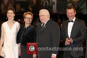 Agnieszka Grochowska, Danuta Walesa, Lech Walesa and Robert Wieckiewicz
