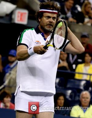 Rainn Wilson - Rain Wilson and Jason Biggs take on Tennis legends Chris Everett and Monica Seles at the 2013...
