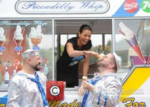 Melanie Sykes and The Show Bears - Melanie Sykes is joined by the Show Bears at The Trafford Centre Manchester...