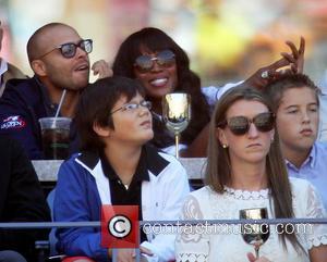 Naomi Campbell - Celebrities attend the Women's semi-finals match between...