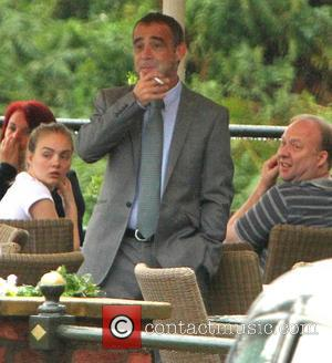 Michael Le Vell - EXCLUSIVE Michael Le Vell smokes a cigarette outside a hotel in Manchester ahead of his court...