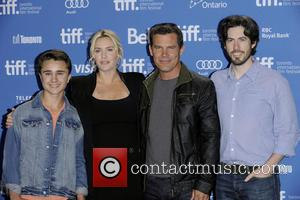 Gattlin Griffith, Kate Winslet, Josh Brolin and Jason Reitman