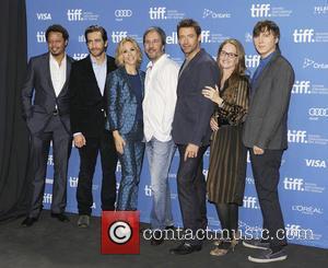 Terrence Howard, Jake Gyllenhaal, Hugh Jackman, Maria Bello, Denis Villeneuve, Paul Dano and Melissa Leo - 2013 Toronto International Film...
