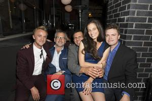 Tom Felton, Charlie Stratton, Pete Shilaimon and Jennifer Monroe - Cast members of 'Therese' attend a party during the 2013...