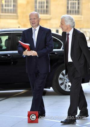 William Hague - William Hague arrives at the BBC Studios for the 'Andrew Marr Show' - London, United Kingdom -...