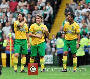Jamie Redknapp, John Bishop and Chris Kamara - The Celtic XI in the Stiliyan Petrov #19 Legends Charity Football Match...