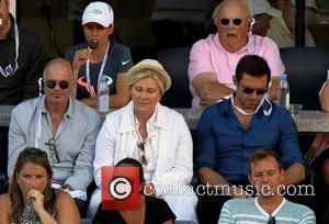 Deborra-Lee Furness and Hugh Jackman - Celebrities attend the US Open Tennis women's singles final between Serena Williams and Victoria...