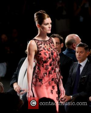 Hilary Rhoda - Carolina Herrea - Front Row - Spring 2014 Mercedes - Benz Fashion Week - New York City,...