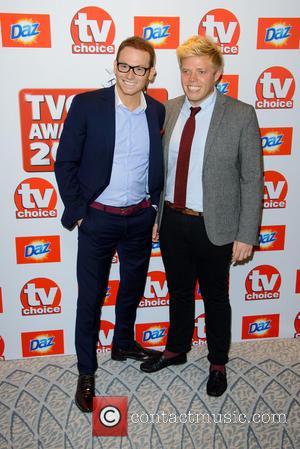 Joe Swash and Rob Beckett - The TVChoice Awards 2013 held at the Dorchester - Arrivals - London, United Kingdom...