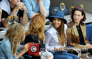 Jessica Alba - Celebrities attend the US Open Tennis Men's Final match between Rafael Nadal and Novak Djokovic at the...