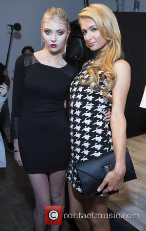 Taylor Momsen and Paris Hilton - Merecedes-Benz New York Fashion Week Spring/Summer 2014 - Alice + Olivia - Presentation -...