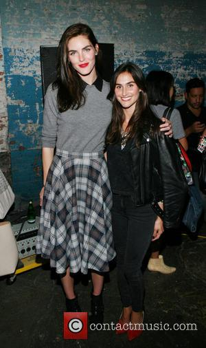 Hilary Rhoda and Danielle Snyder - Merecedes-Benz New York Fashion Week Spring/Summer 2014 -Dannijo - Presentation - New York City,...