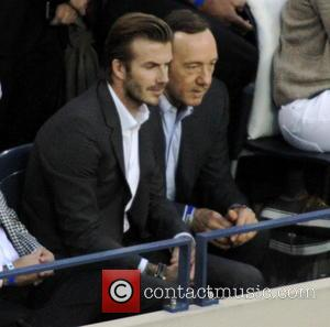 David Beckham and Kevin Spacey