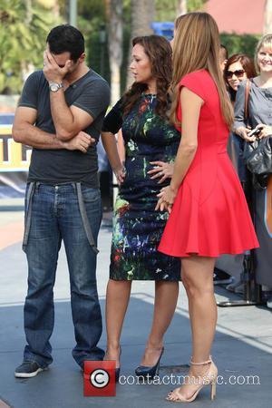 Leah Remini, Tony Dovolani and Maria Menounos - Leah Remini and her dance partner, Tony Dovolani appear on Extra TV...
