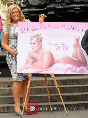 Gemma Collins - Gemma Collins unveils a new Peta campaign in Piccadilly Circus - London, United Kingdom - Tuesday 10th...