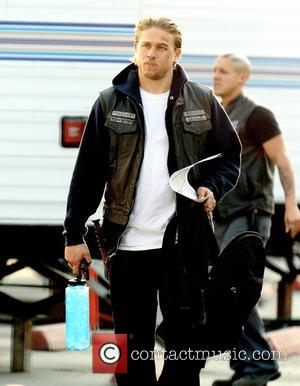 Charlie Hunnam - Filming on location for TV drama series Sons Of Anarchy for the first show of season 6...