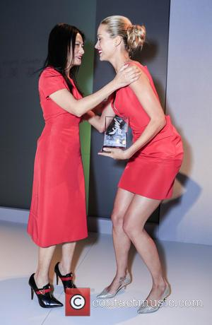 Vivienne Tam and Petra Nemcova - Mercedes-Benz New York Fashion Week Spring/Summer 2014 - China Fashion Night Out - New...