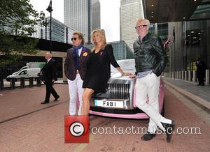 Rod Stewart, Penny Lancaster and Chris Evans