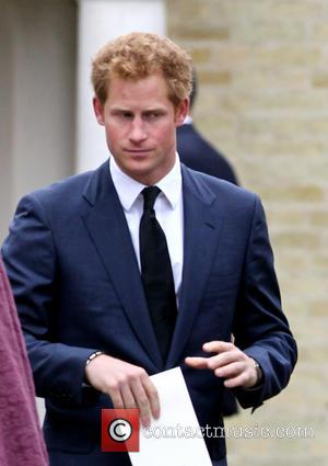 Prince Harry - Members of the Royal family attend the funeral of their friend Hugh van Cutsem at Brentwood Cathedral...