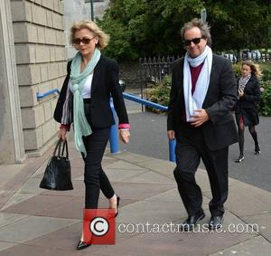 Chris De Burgh and Diane Davison - The Funeral of actress Susan Fitzgerald at The Church of The Three Patrons,...