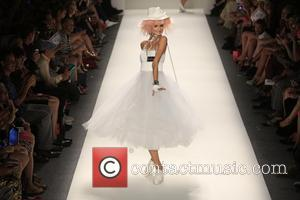 Model - Mercedes-Benz Fashion Week Spring 2014 - J. Mendel at The Theatre at Lincoln Center - Runway - New...