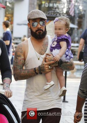 AJ McLean and Ava McLean - Backstreet Boy AJ McLean shopping at The Grove with daughter Ava McLean - Los...
