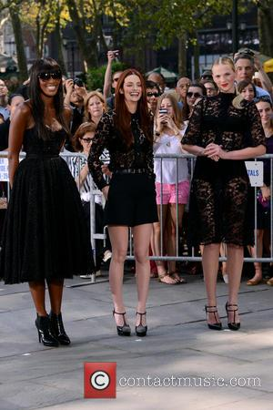 Naomi Campbell, Lydia Hearst and Anne V
