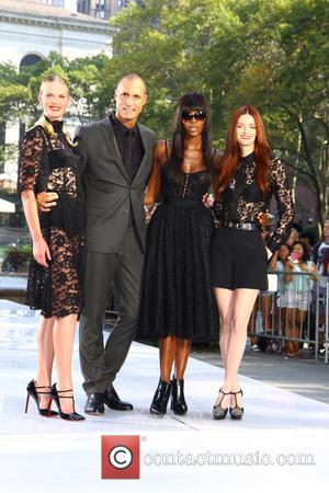 Naomi Campbell, Lydia Hearst, Anne V and Nigel Barker