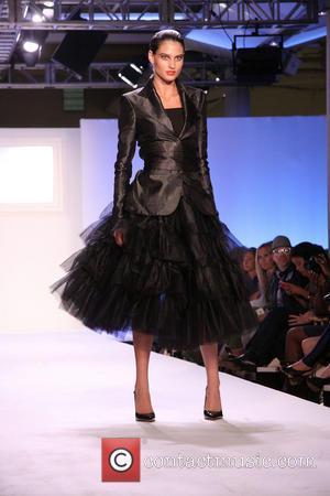 Model - Mercedes-Benz New York Fashion Week Spring/Summer 2014 - Malan by Malan Breton - Runway - New York, NY,...