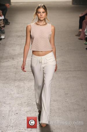Model - Mercedes-Benz New York Fashion Week Spring Summer 2014 - Daisy Fuentes - Runway - New York City, New...
