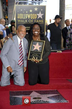 Berry Gordy and Glodean White - Barry  White Honored Posthumously With Star on the  Hollywood Walk of Fame...