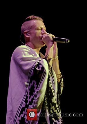 Macklemore - American rapper Macklemore performing in concert at the O2 Apollo Manchester - Manchester, United Kingdom - Thursday 12th...