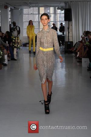 Model - New York Fashion Week - MBFW SS 2014 Edwng D'Angelo Fashion Show - Runway - New York, NY,...