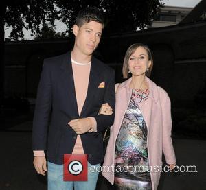 Katherine Kelly and Ryan Clark - London Fashion Week Spring/Summer 2014 - Jasper Conran - Departures - London, United Kingdom...