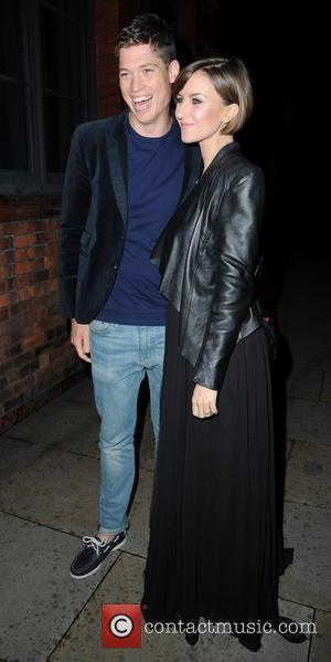Katherine Kelly and Ryan Clark - Katherine Kelly and husband Ryan Clark arrive at Great John Street Hotel for Catherine...