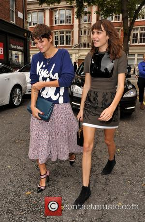 Pixie Geldof and Alexa Chung - J W Anderson Catwalk Show London Fashion Week Spring Summer 2014. - London, United...