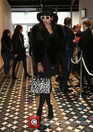 Jameela Jamil - London Fashion Week SS14  - Holly Fulton - Arrivals - London, United Kingdom - Saturday 14th...