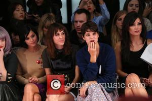 Leigh Lezark, Alexa Chung, Pixie Geldof and Daisy Lowe - London Fashion Week SS14  - House of Holland- Front...