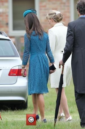 Pippa Middleton - The Duke of Cambridge attend the wedding of Lady Laura Marsham and James Meade at St nicholas...