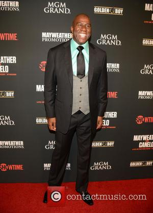 Magic Johnson - VIP Guests attend the Pre-Fight Party For Showtime PPV's Presentation Of The One: Floyd Mayweather Jr. Vs....